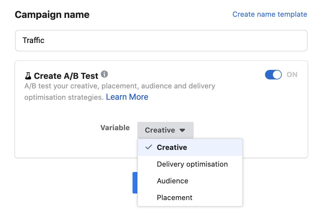 A/B Testing di Facebook
